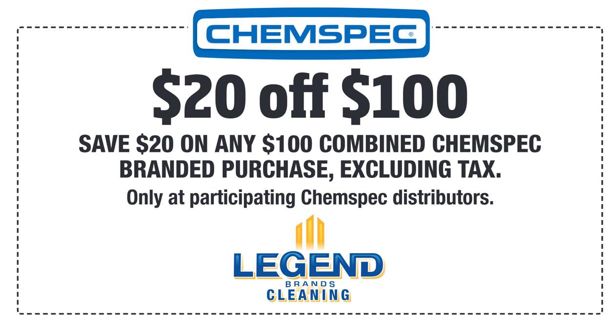Chemspec $20 OFF of $100 - June 1-30 2019 - Michigan Maintenance
