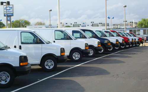 Large selection of vans available