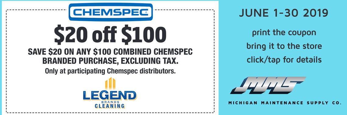 Chemspec $20 OFF of $100