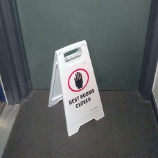 Restroom Closed Sign NET