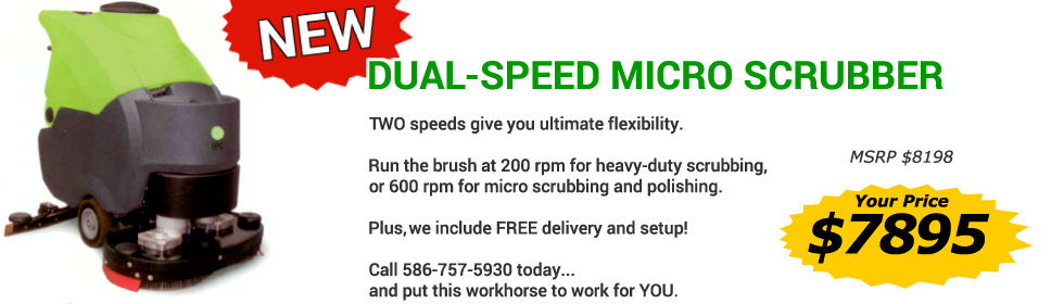 Dual-Speed Micro Scrubber