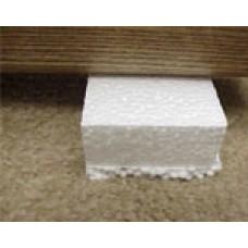 Foam Blocks, white, sheet of 72 blocks NET
