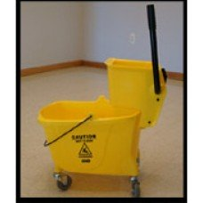 Sidepress Wringer, Plastic Bucket Combo